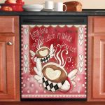 Latte Love Catch It While You Can Dishwasher Cover Sticker Kitchen Decor