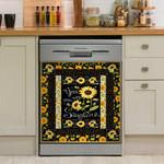 You Are My Sunshine Sunflower Dishwasher Cover Sticker Kitchen Decor