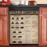 Types Of Campfires Dishwasher Cover Sticker Kitchen Decor