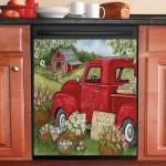 Spring Egg Hunt Truck Dishwasher Cover Sticker Kitchen Decor
