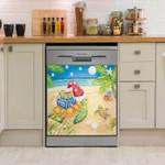 Turtle Ocean Art Dishwasher Cover Sticker Kitchen Decor