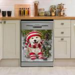 Shiba Inu Underpine Pattern Dishwasher Cover Sticker Kitchen Decor