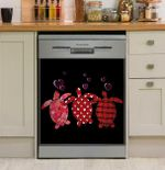 Turtle 3 Valentines Day Dishwasher Cover Sticker Kitchen Decor