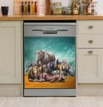 Vivilinen Natural African Safari Animals Dishwasher Cover Sticker Kitchen Decor