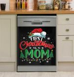 First Christmas As A Mom Dishwasher Cover Sticker Kitchen Decor