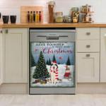 Siberian Husky Little Christmas Dishwasher Cover Sticker Kitchen Decor