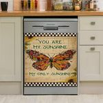 You Are My Sunshine My Only Sunshine Butterfly Dishwasher Cover Sticker Kitchen Decor