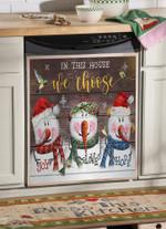 Snowman Joy Love Hope Dishwasher Cover Sticker Kitchen Decor