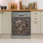 Skull And Flower Branch Pattern Dishwasher Cover Sticker Kitchen Decor