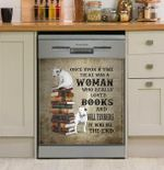 I Am A Woman Who Really Love Bull Terrier And Books Dishwasher Cover Sticker Kitchen Decor