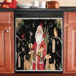 Woodland Santa Dishwasher Cover Sticker Kitchen Decor