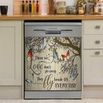 Those We Love Do Not Go Away Fly Beside Us Everyday Butterfly Dishwasher Cover Sticker Kitchen Decor