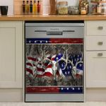 Hunting Deer Flag Dishwasher Cover Sticker Kitchen Decor
