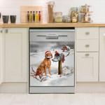 Vizsla And Christmas Cards Dishwasher Cover Sticker Kitchen Decor