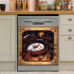 Snowman Vintage Christmas Dishwasher Cover Sticker Kitchen Decor