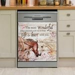 Horse Couple The Most Wonderful Thing Dishwasher Cover Sticker Kitchen Decor