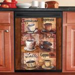 Types Of Coffee Vintage Dishwasher Cover Sticker Kitchen Decor