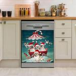 Shih Tzu Umbrella Pattern Dishwasher Cover Sticker Kitchen Decor