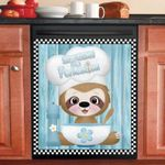 Sloth Cooking Dishwasher Cover Sticker Kitchen Decor