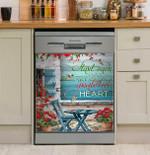 Hippie Ocean Start Each Day With A Grateful Heart Dishwasher Cover Sticker Kitchen Decor