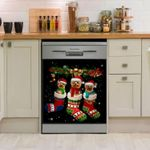 Yorkshire In Socks Black Pattern Dishwasher Cover Sticker Kitchen Decor