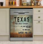 Texas That Place Forever In Your Heart Dishwasher Cover Sticker Kitchen Decor