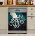 Underwater Dream Octopus Dishwasher Cover Sticker Kitchen Decor
