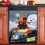 Haunted House Dishwasher Cover Sticker Kitchen Decor