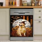 Golden Retriever Halloween Dishwasher Cover Sticker Kitchen Decor