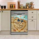 Turtle Ocean Heart Love Dishwasher Cover Sticker Kitchen Decor
