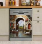Le Barche Sotto Larco Dishwasher Cover Sticker Kitchen Decor