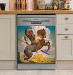 Thomas Blackshear Buffalo Hunt Dishwasher Cover Sticker Kitchen Decor