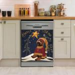 Labradoodle Always Shine Pattern Dishwasher Cover Sticker Kitchen Decor