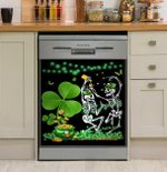 Skull St Patrick Day Dishwasher Cover Sticker Kitchen Decor
