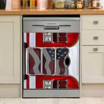 Firefighter Truck Dishwasher Cover Sticker Kitchen Decor