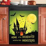 Home Of The Wickedwitch And All Her Little Monsters Dishwasher Cover Sticker Kitchen Decor