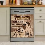 This Home Is Filled With Kisses Wet Noses And Love Dishwasher Cover Sticker Kitchen Decor