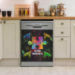 Turtle Be Kind Autism Awareness Dishwasher Cover Sticker Kitchen Decor