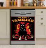 Let's Adopt A Familiar Black Cat Dishwasher Cover Sticker Kitchen Decor