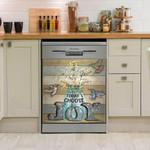 Hummingbird Today Choose Joy Flower Vase Dishwasher Cover Sticker Kitchen Decor
