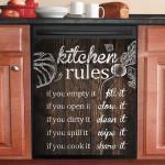 Kitchen Rules Dishwasher Cover Sticker Kitchen Decor