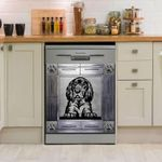 Gordon Setter Black Pattern Dishwasher Cover Sticker Kitchen Decor