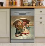 Victorian Boy At Christmas Dishwasher Cover Sticker Kitchen Decor