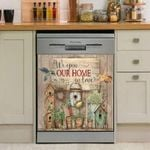 Hummingbird We Open Our Home In Love Dishwasher Cover Sticker Kitchen Decor