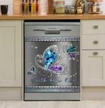 I Love Butterfly Faith Hope Live Dishwasher Cover Sticker Kitchen Decor
