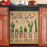 God Say You Are Flower Succulent Dishwasher Cover Sticker Kitchen Decor