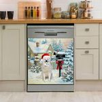 Great Pyrenees Mail For Santa Pattern Dishwasher Cover Sticker Kitchen Decor