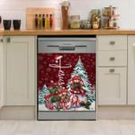 Yorkshire Red Sky Snow Pattern Dishwasher Cover Sticker Kitchen Decor