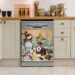 Siberian Husky Picnic Together Pattern Dishwasher Cover Sticker Kitchen Decor