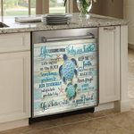 Turtle Life Lessons From Baby Sea Dishwasher Cover Sticker Kitchen Decor